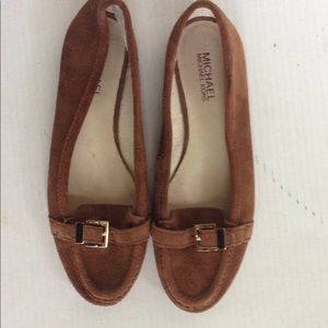 Michael Kors Tan Suede Loafers
